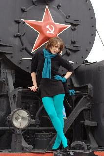 FotoRomantika: Asya Ozhogina, Soviet Union trains