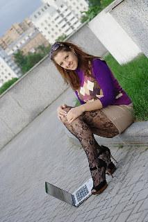 FotoRomantika: Arinka on the roof